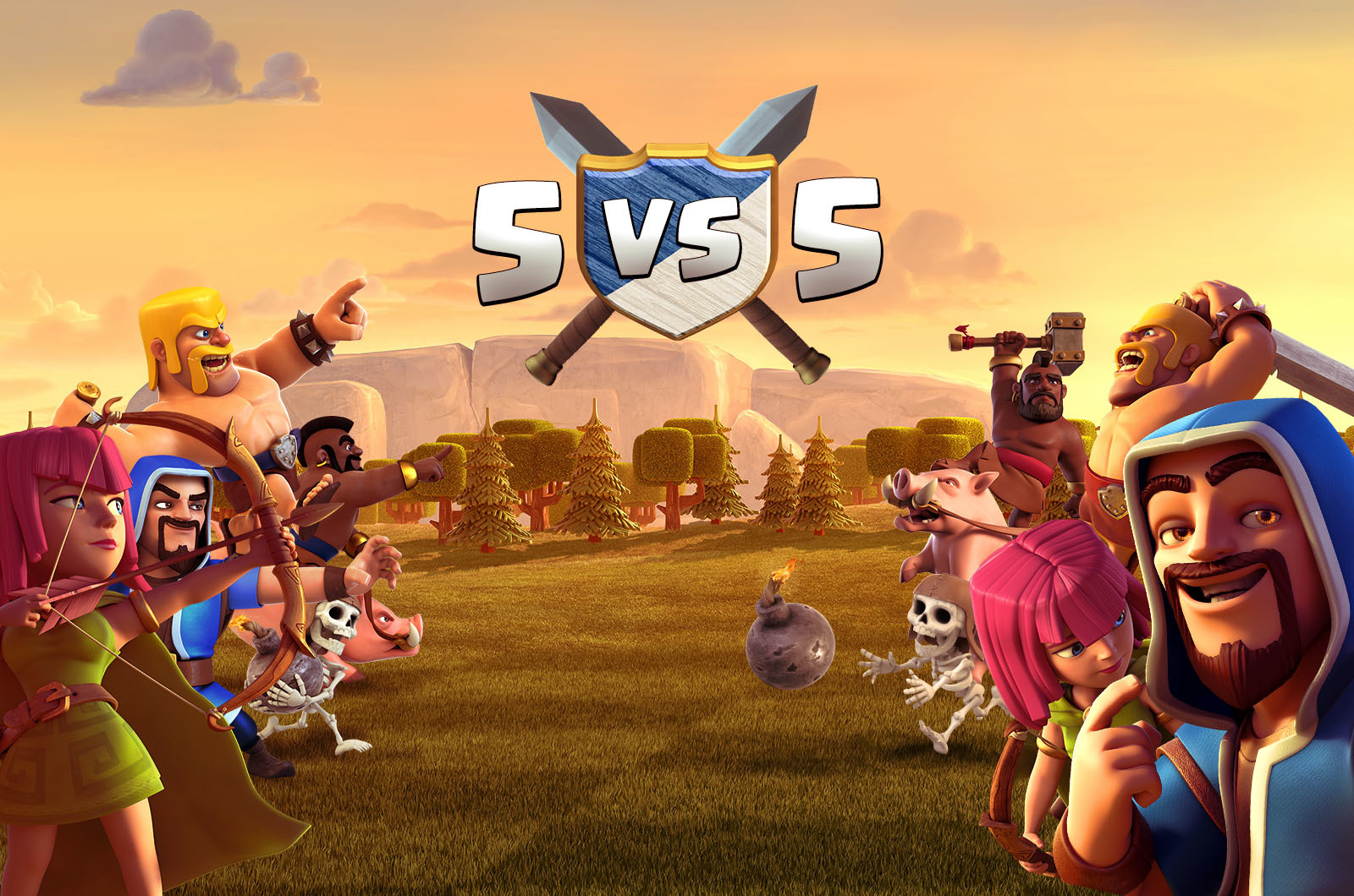 Guerras 5v5 estão chegando no Clash of Clans