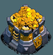 Armazenamento de Ouro Nível 13 - Clash of Clans
