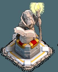 Estátua Grande Dirigente em modo defesa vila