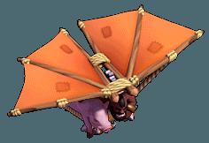 Voador nível 1 ao 4 - Clash of Clans