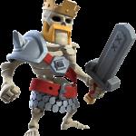 Skin Rei Bárbaro - Rei Esqueleto