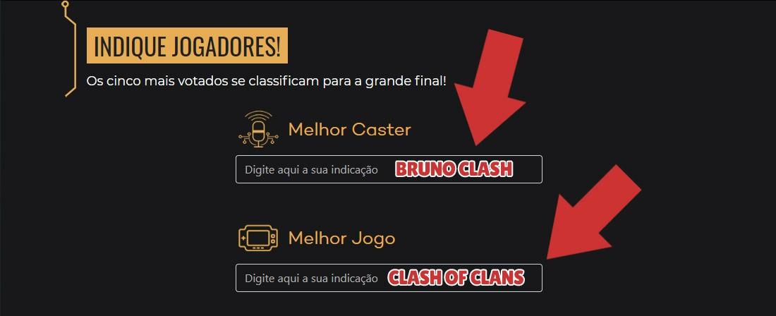 Indique o Bruno Clash como Melhor Caster