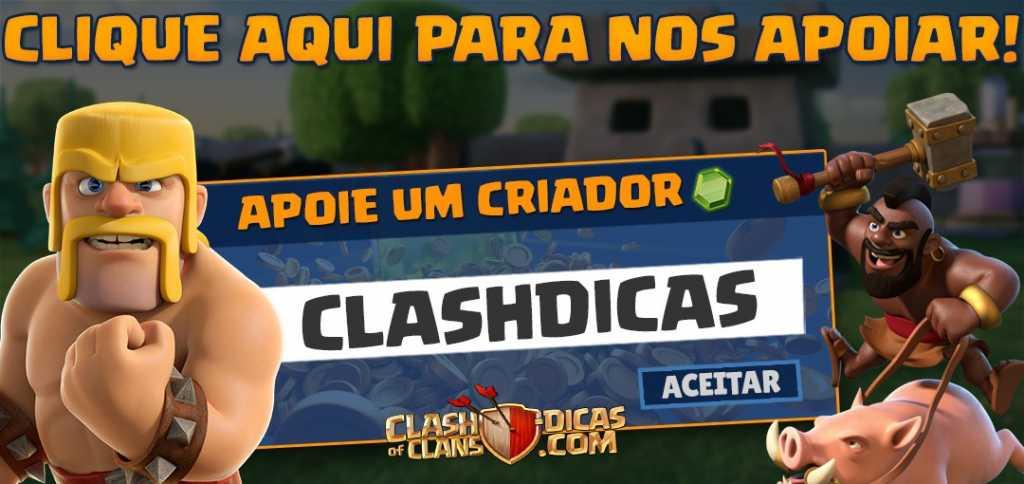 Apoie ClashDicas na loja do Clash of Clans