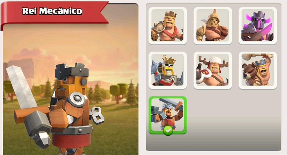 Rei Mecânico no Clash of Clans