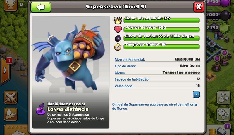Detalhes do Super Servo