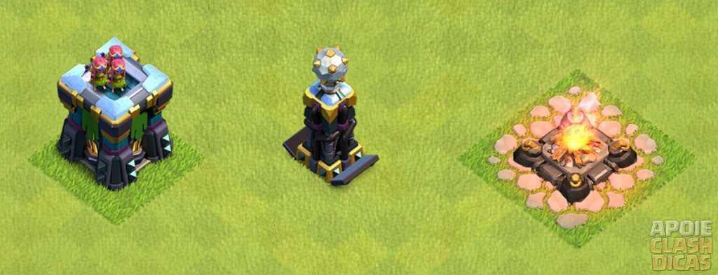 Novos níveis de Defesas e Construções